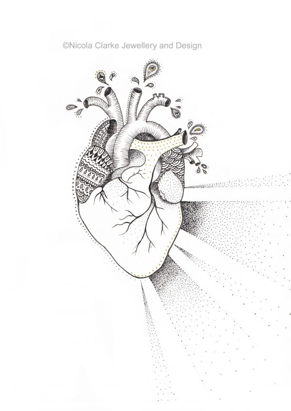 Anatomical heart illustration