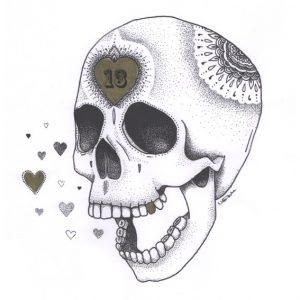 13 Skull illustration